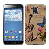 Kwmobile® Hard case City design (New York) for Samsung Galaxy S5 G900 in Beige Blue etc.