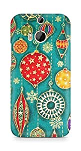 Amez designer printed 3d premium high quality back case cover for HTC One M8 (celerate pattern doodle)