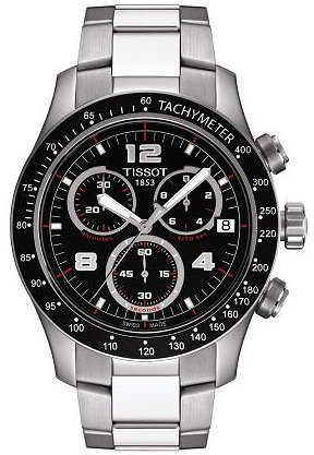 Tissot Men's T0394171105700 Tissot V8 Black Chronograph Dial Watch