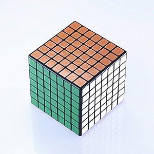 JohnsDollarStore 7X7X7 Black Puzzle Magic Cube 6 Color
