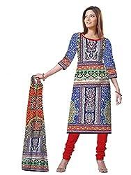 BalajiWomen's Crepe Unstitched dress material(205-multicolor-free size)