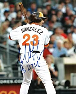 Autographed Hand Signed Adrian Gonzalez 8x10 San Diego Padres 8x10 Photo by Hall of Fame Memorabilia