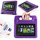 2013 Kindle Fire Hd 7 Cover Case Slim Fit Silicone Plastic Dual Protective Back Cover Standing Case Kid Proof Case for Amazon Kindle Fire Hd 7 Inch(2013 Model)-multiple Color Options (EVA-Kindle Fire HD 7(2013):Purple)