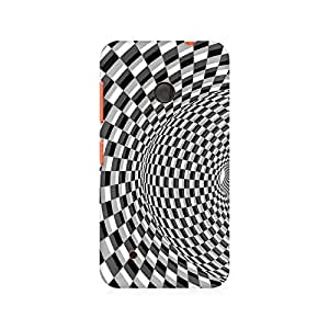 Mobicture Illusion Checks Premium Printed Case For Nokia Lumia 530