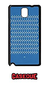 Caseque Blue Floral Print Style Back Shell Case Cover For Samsung Galaxy Note 3