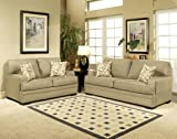 3pc Traditional Modern Fabric Sleeper Sofa Set, CO-AMB-S1
