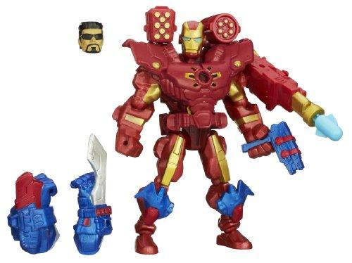 Hasbro Marvel Super Hero Mashers - Bambola di Iron Man elettronica, componibile