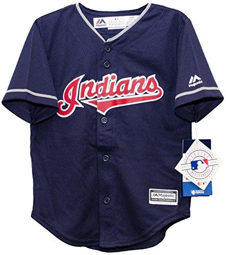 Cleveland Indians Alternate Navy Cool Base Toddler MLB Jersey (2T)