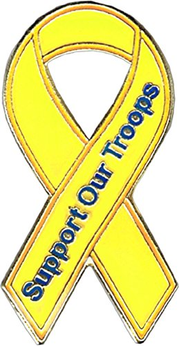 Support Our Troops (Yellow Ribbon) Enamel Pin