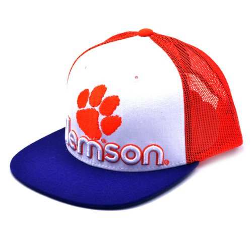 NCAA Clemson Tigers Men's Word Up Adjustable Snapback Cap (White, One Size)