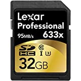 Lexar Professional 633x 32GB SDHC UHS-I/U3 Card (Up to 95MB/s Read) w/Image Rescue 5 Software - LSD32GCBNL633