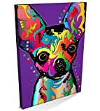Chihuahua Dog, Canvas Art Print, 22x34 inch (A1) - 109