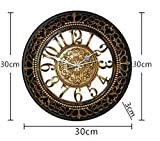 Foxtop 12 Inch European-style Vintage Retro Antique Royal Style Resin Wall Clock, Creative Home Living Room Boutique Antique Hotel Mute Wall Clock - Gold