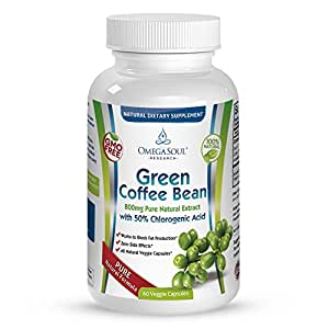 Buy Pure Green Coffee Bean Extract with 50% CGA - 800 mg ...