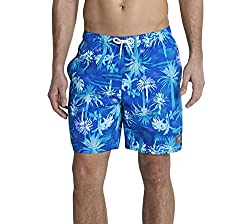 Speedo Men's Polyester Shorts (8901326545522_809675A348_Large_B.Blue, Adriatic and White)
