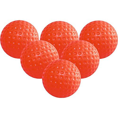 Tinksky Golf Golfbälle Practice Ball-6ST Weiche Elastische Training Golfbälle (Rot)
