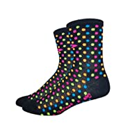 DeFeet AirEator 4in Spotty Cycling/Running Socks