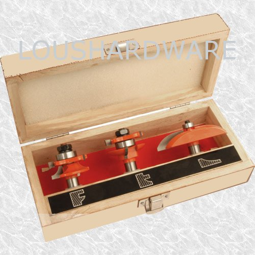 3 PIECE ROUTER BIT SET KITCHEN CABINET DOORS