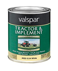 Valspar 4432-15 International Harvester White Tractor and Implement Paint - 1 Quart