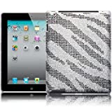 Apple iPad 3 Zebra Striped Design Diamante Case / Cover / Shell / Shield Part Of The Qubits Accessories Rangeby Qubits