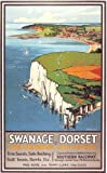 Vintage Poster Shop 1930's Southern Railways Swanage Dorset Railway Poster A3 Print