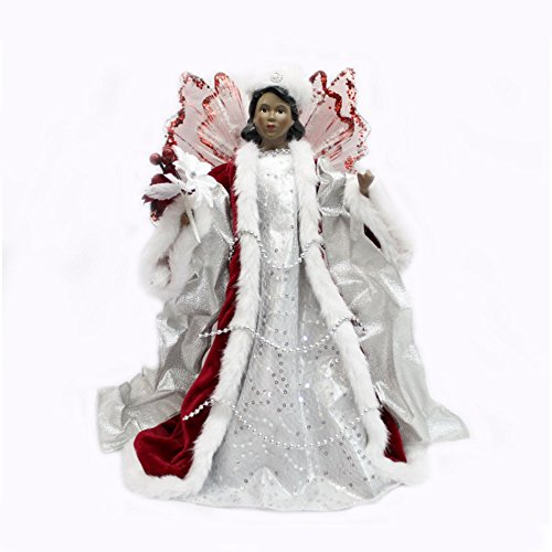Trim A Home® Tree Top Fiber Optic Angel-Ethnic-Red, 15 In