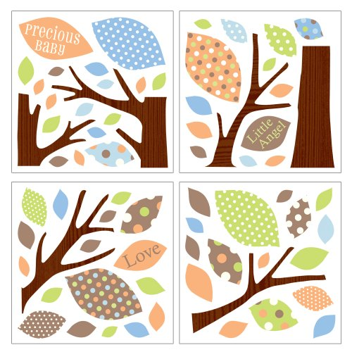 Lot 26 Studio Art-U-Stick Wall Stickers, Tree of Love, 34 x 28-Inches