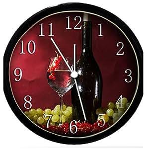 glow in the dark wall clock wine glasses