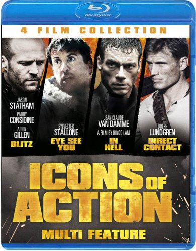 Icons of Action (Blitz / Eye See You / In Hell / Direct Contact) [Blu-ray]