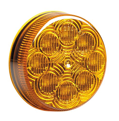 """Maxxima M16280Y Amber 2-1/2"""" Round Led Clearance Marker Light"""