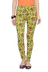 Honey By Pantaloons Women's Cotton Spandex Legging (301239705_Yellow_32)
