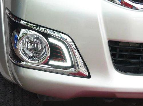 New Led Daytime Running For Toyota Hilux Vigo Mk7 Champ 2012 Light Fog Lamp Cover Trim