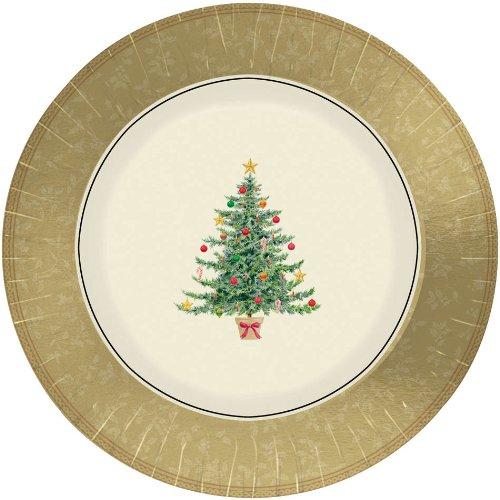 clssc vctrn tree metallic 7 inches plates - 1