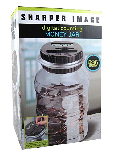 Sharper Image Digital Counting Coin Money Jar Piggy Bank (Digital Coin Bank compare prices)