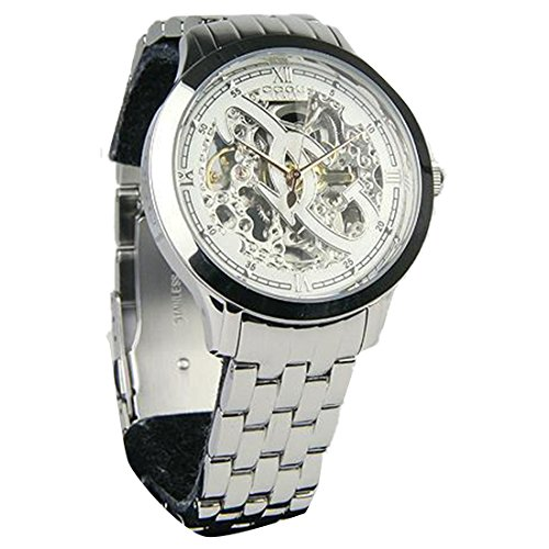 COGU 両面スケルトン 腕時計 オートマチック 3001M WH ホワイト 並行 [時計] [時計]