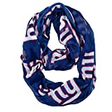 NFL New York Giants Sheer Infinity Scarf, One Size, Blue