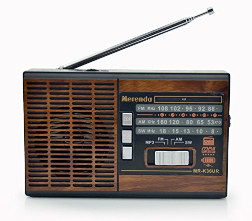 Niceshop® Mr36 Portable Full Band Fm Stereo Shortwave 3 Band Radio with Mp3 Player Support Usb/tf/fm/am /Sw for Parents Old People,wood Color
