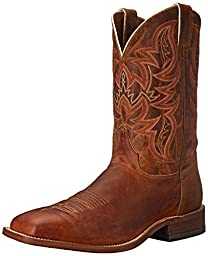 Justin Boots Men\'s 11 Inch Bent Rail Riding Boot, Distressed Cognac, 10 D US