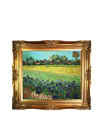 Vincent Van Gogh View Of Arles With Irises Hand-Painted Reproduction, Multi, 28 x 32