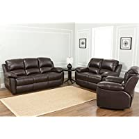 Abbyson Living Toscana 3-Pc. Leather Set