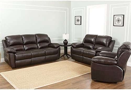 Abbyson Living Toscana 3-Pc. Leather Set