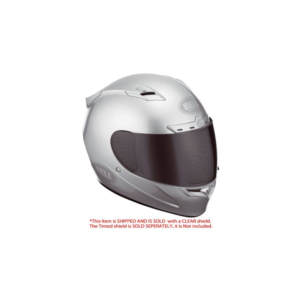 Bell Vortex Grind Metallic Silver Full Face Helmet   Size