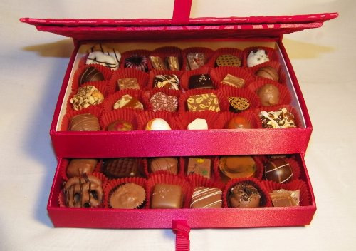 Gourmet Chocolates And Truffles (48 Pieces) In A Jewelry Box Picture