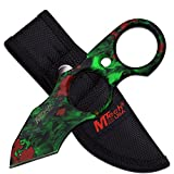 Fixed Knife Blade, Skull Camo Green Tactical, with Sheath. Use Hunting, Camping, Fishing, Skinning or Survival. Best 440 Stainless Steel, Small, Compact Tanto. Limited Availability.