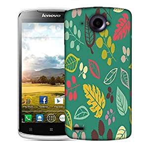 Snoogg Colorful Leaves Blue Designer Protective Phone Back Case Cover For Lenovo S920