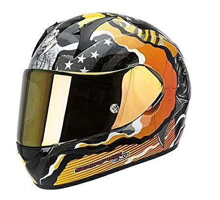 Casque de moto Fit SCORPION EXO Air Orange sauvage 410