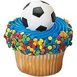 DecoPac 2D Soccer Cupcake Rings (12 Count)