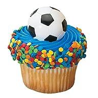 DecoPac 2D Soccer Cupcake Rings (12 C…