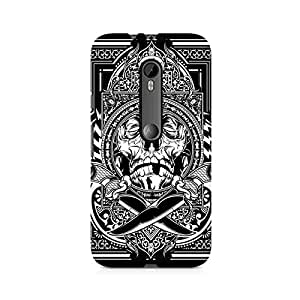 Mobicture Skull Abstract Premium Printed Case For Moto X Style