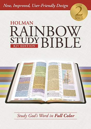 Holman Rainbow Study Bible: KJV Edition, Hardcover (Color Coded Bible compare prices)